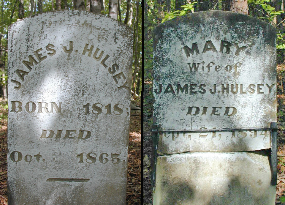 JJ and Mary King Hulsey Headstones